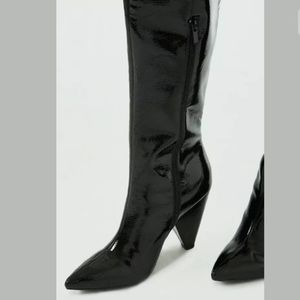 Forever 21 Shoes - Forever 21 faux patent leather thigh high boots